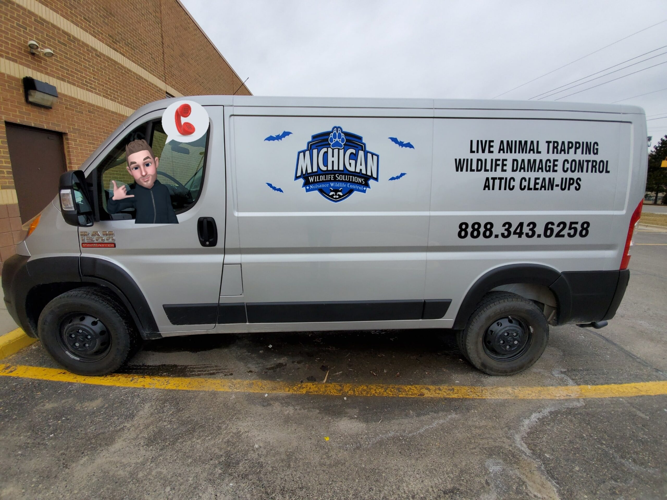 Michigan Wildlife Solutions Van